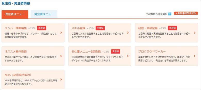 クラウドワークスでメンバー情報を入力してプロフィール充実度を上げよう!