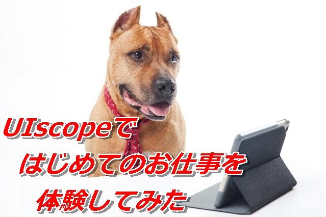 UIscopeのチュートリアル「はじめてのお仕事」を体験してみた