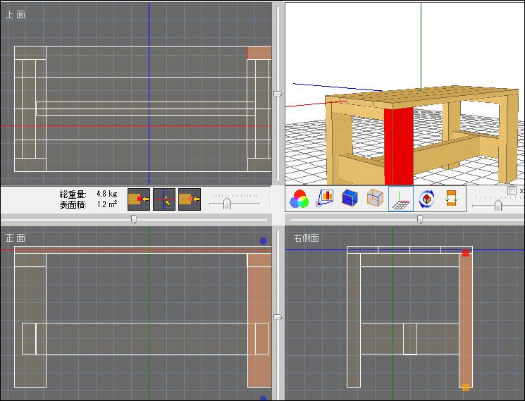ベッドサイドテーブルの作り方