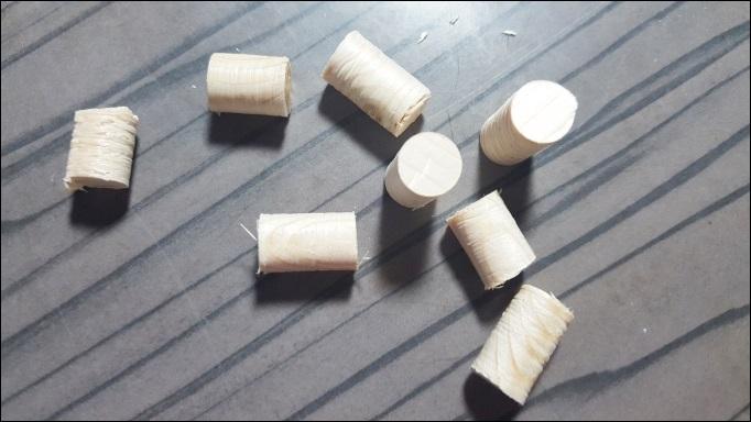 購入した木材の余りでダボを作る