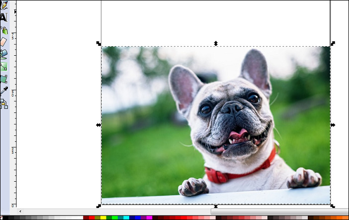 Inkscape(インクスケープ)写真の挿入