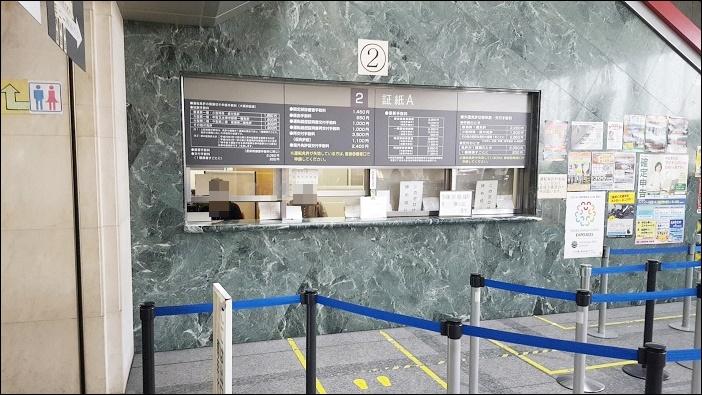 運転免許証の『うっかり失効』2番窓口で証紙を購入
