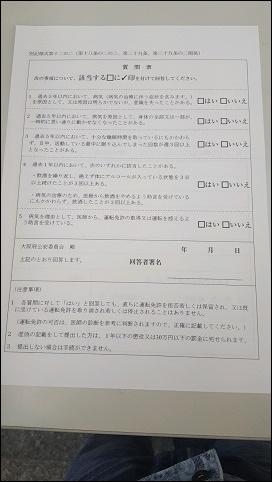 「期限切れ」は8番窓口からスタート一緒に「質問票」を提出