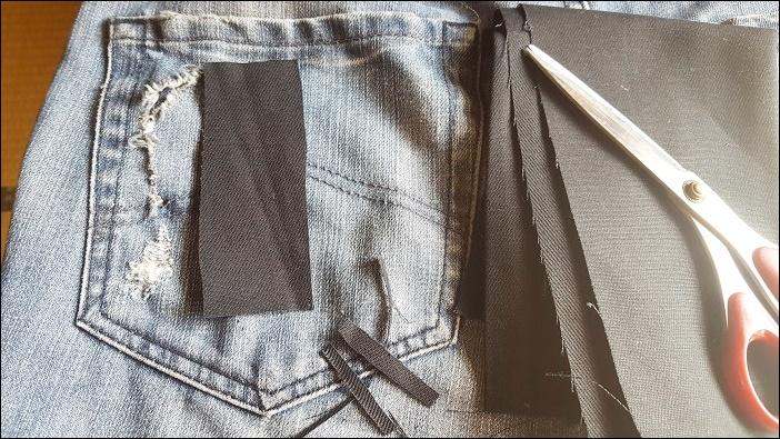 ジーパンのポケットをボンドひとつでサクッと簡単に補修する方法
