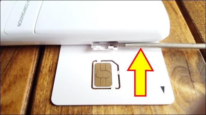 PIX-MT100に追加SIMをセットする