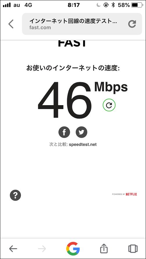 auの通信速度