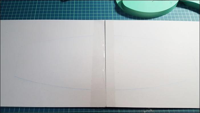 基本のカーテンタッセルの作り方 線が引けた