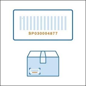 段ボールなどの梱包に直接貼られていた場合は、剥がさずにその箱で送るか別の情報を用意します。