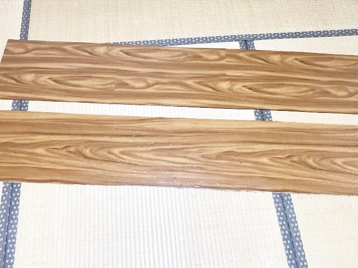 木目調シートの貼り付け